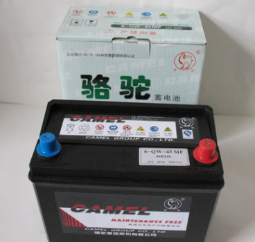 骆驼电瓶 12V 45AH 6-QW-45 免维护蓄电池 骆驼电瓶.