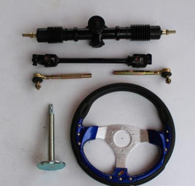产地货源直销改装配件卡丁车方向盘方向机万向节前轮转向系统套件