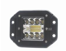 跨境专供汽车led射灯 嵌入式20珠 车顶灯60w射灯货车灯中网灯雾灯