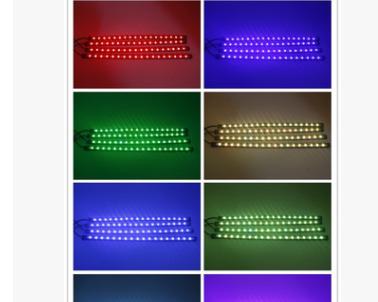 新品爆款 汽车气氛灯 脚底氛围灯LED灯饰 七彩声控RGB音乐节奏灯