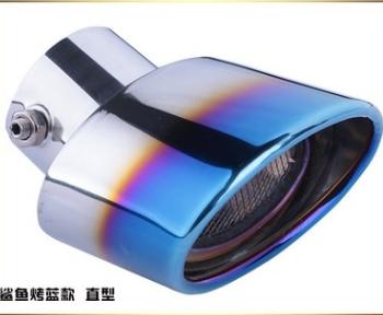 厂家直销汽车通用尾喉改装通用消音器不锈钢排气管改装尾气罩装饰