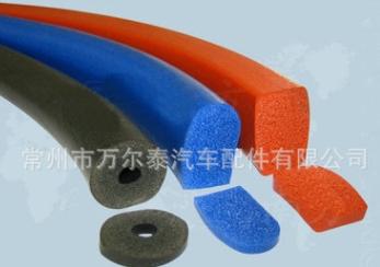 厂家供应 发泡硅胶密封条 pu发泡包覆式密封条