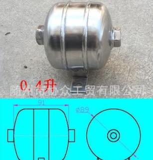 304不锈钢0.1升2升储气筒气缸贮气真空罐