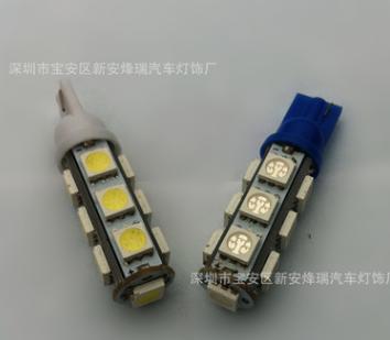 汽车LED灯 T10 5050高亮13灯SMD头LED示宽灯 阅读灯仪表示宽灯
