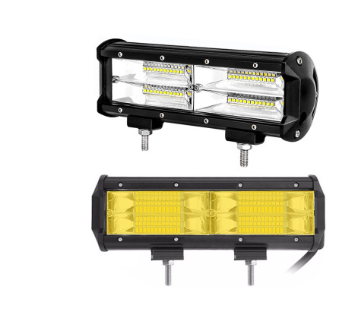新款 汽车LED 三排长条灯 144W工作灯改装越野车灯 黄光 雾灯