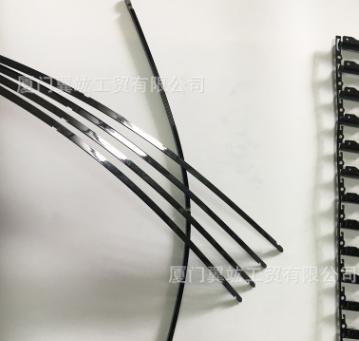 专车专用无骨雨刮器钢片定制各尺寸雨刷钢片14MM单孔双孔单钢片