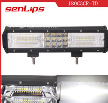 厂家:led车灯180W 三排条纹长条灯 LED汽车检修灯 越野车改装灯