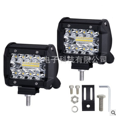 LED射灯4英寸60W越野车汽车三排LED工作灯宽照直照车顶灯工程灯