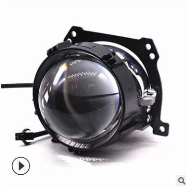 LED双光透镜汽车大灯前照灯改装 超亮h4 led透镜高亮聚光厂家直销