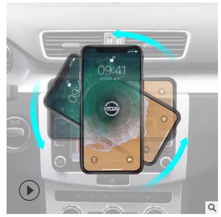 智能空压车载手机支架真空吸卡扣式CD出风口支撑导航架通用支架