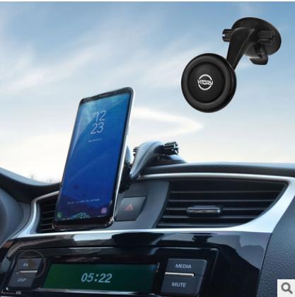 智能空压车载手机支架 导航旋转手机通用支架 吸盘式车用支架批发