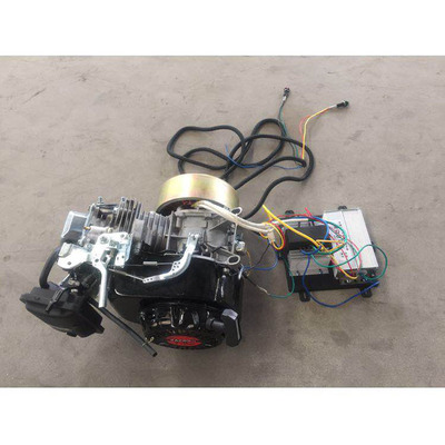 3kw低噪音48V电动汽车三轮四轮增程器汽油充电发电机