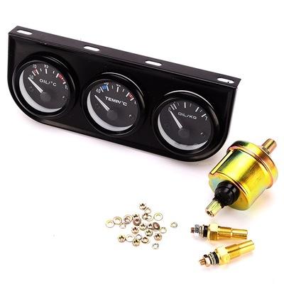 3合1改装汽车仪表油温水温油压52MM2英寸