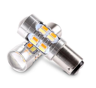 厂家直销S25-1157-20SMD双色转向灯刹车灯5630双色灯白色+黄色