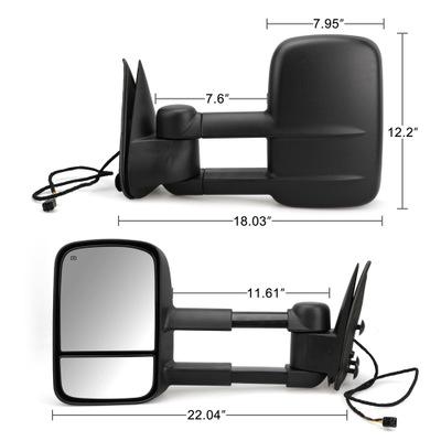 跨境热销汽车适用99-02雪佛兰卡车后视镜 对动力加热门牵引侧视镜