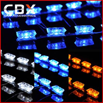 【CBX】通用型隐形泪眼 行车灯带转向 LED三色泪眼日行灯装饰灯
