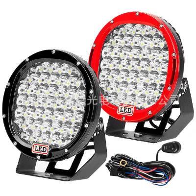 9寸 225W圆形LED工作灯 牧马人SUV越野改装前大灯卡车射灯工作灯