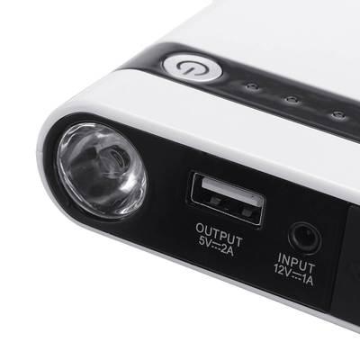 12V迷你汽车应急启动电源 便携式启动器 多功能手机充电宝 带LED