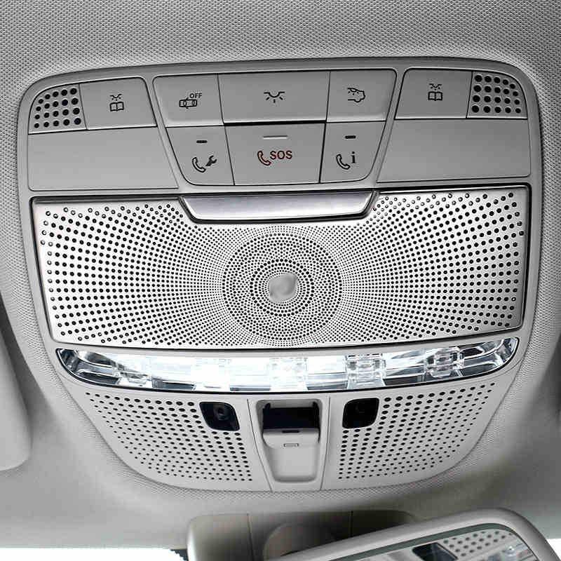 适用奔驰新C级 GLC 16款新e级前阅读灯装饰贴罩 柏林之声
