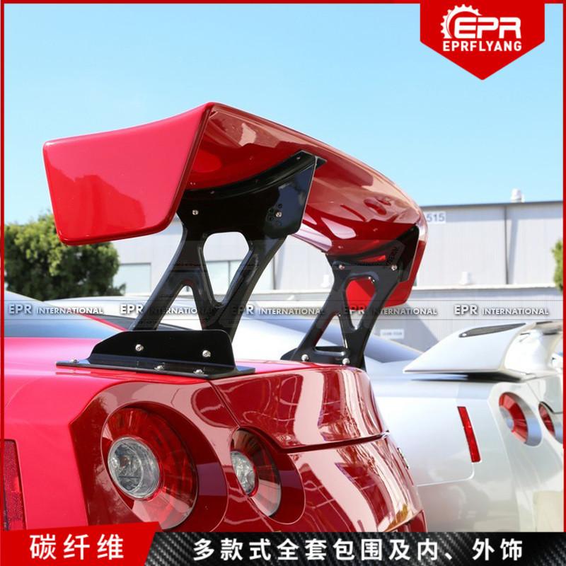 日系战神 GTR改装 R35碳纤维 GT大尾翼 Varis Euro款后备箱定风翼