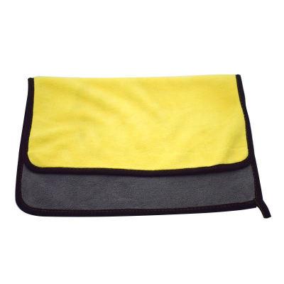 汽车洗车毛巾 加厚吸水珊瑚绒擦车巾 双色双面高密车用清洁洗车巾