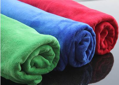 360g加厚汽车毛巾 30*70干发洗车毛巾 纤维擦车毛巾工厂直销