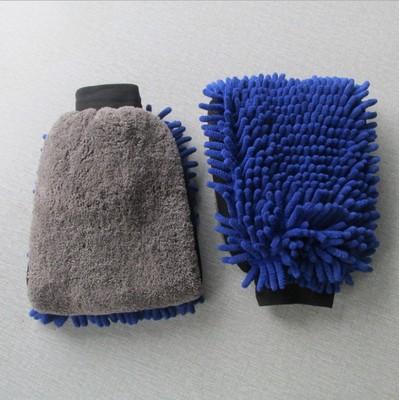 双面大号雪尼尔珊瑚绒洗车防水手套 不伤漆珊瑚虫多功能擦车手套