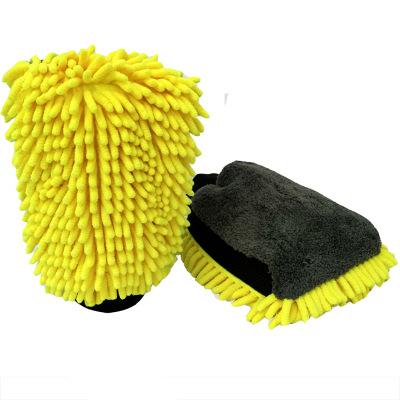 双面大号雪尼尔珊瑚绒洗车防水手套保护漆面珊瑚虫多功能擦车手套