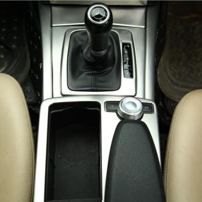 奔驰W204老款C级C180 200 300右驾驶右呔车改装中控水杯面板装饰