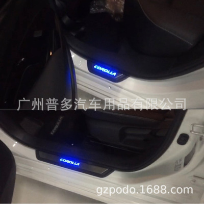 适用丰田卡罗拉Altis汽车门槛条碳纤维迎宾踏板 LED灯 2019 2020