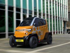 """以色列公司推出""""可折叠""""电动汽车 4辆占1辆普通汽车位置"""